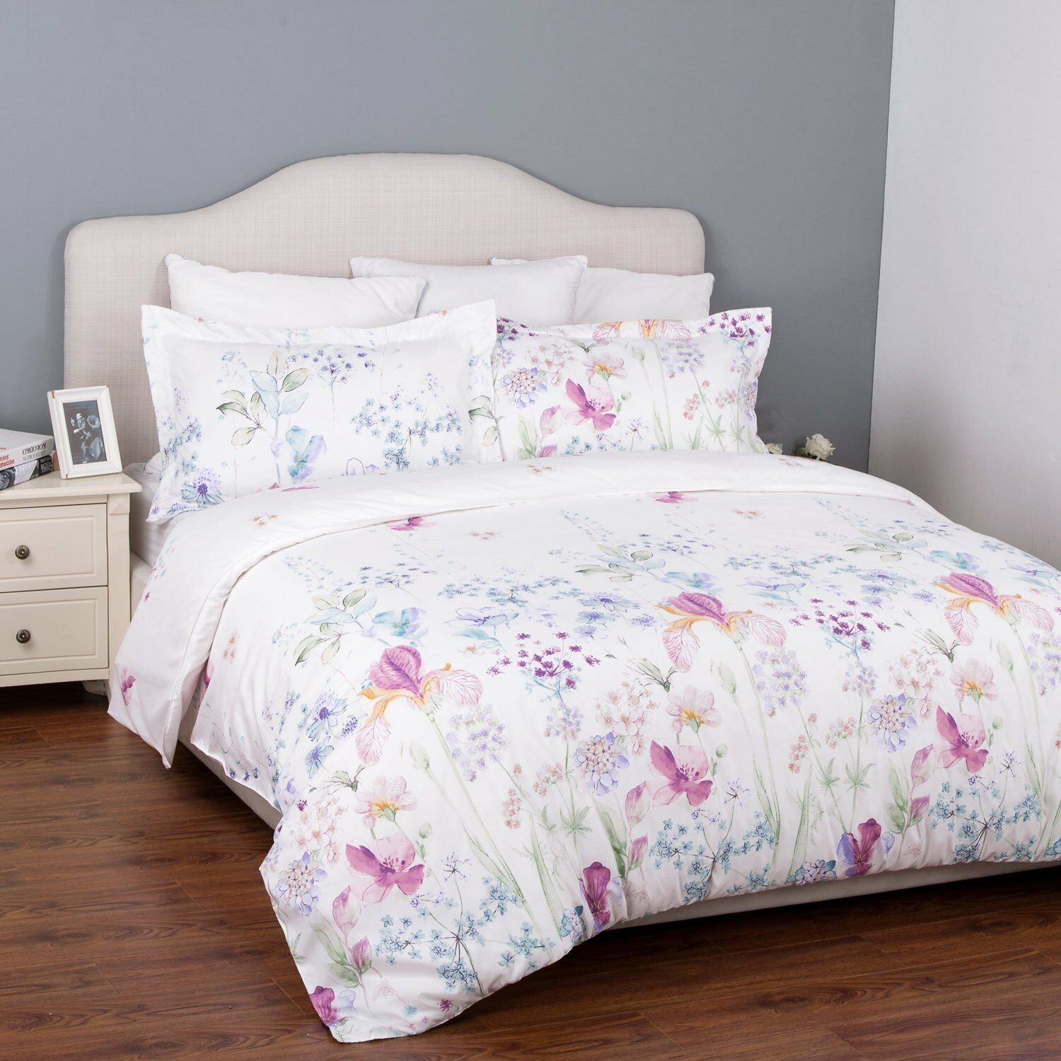 Luxury Floral Print King Size Bed Bedding Set Duvet Quilt Cover With Pillowcases