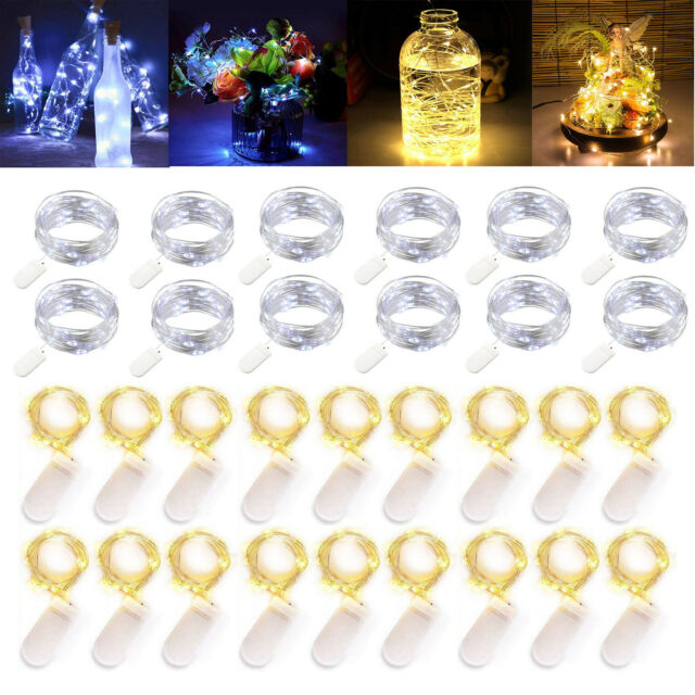 2 Pack Battery Operated Mini Led Fairy Lights with Timer 50 LEDs,Warm White