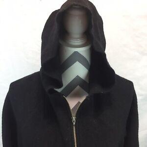 Classiques-Entier-Merino-Wool-Hoodie-Womens-Large-Full-Zipper-W10