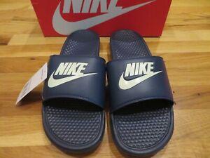 White Nike Benassi JDI Sandals, Size