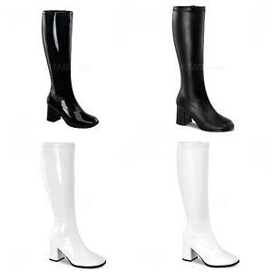 68aef108de7 PLEASER FUNTASMA GoGo-300WC Stretch Wide Calf 70s Disco Fancy Dress ...