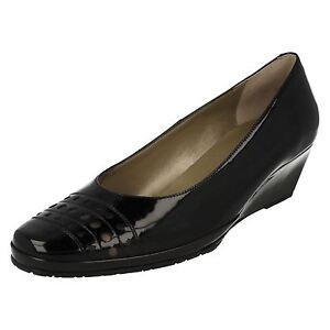 Pacifica Ladies Slip On Leather Wedge Heeled Smart Court Shoes Van Dal k0CoB1xRsU