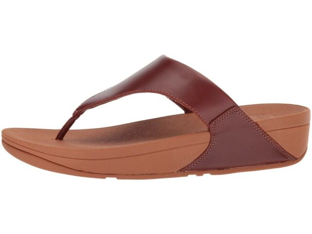33a9fe567 FitFlop Womens Sandals Lulu Leather Toepost Cognac Size 5 for sale ...