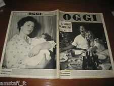 RIVISTA OGGI 1959/27=BRIGITTE BARDOT=JACQUES CHARRIER=SANDRA MILO=MARIA BEATRICE