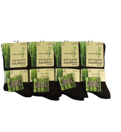 super morbido anti batterico SOCKS 4//7 6 Paia Di Donna In Bambù Loose Top Calze