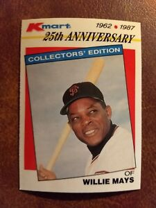Details About 1987 Topps Kmart Stars Of The Decades Baseball Card 8 Willie Mays