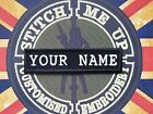 AIRSOFT / MILITARY /  EMBROIDERED NAME TAPE VARIOUS CAMOUFLAGE AND TEXT COLOR
