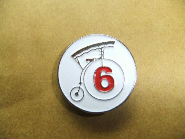 PATRICK McGOOHAN THE PRISONER NO 1 ORIGINAL BADGE ITC DANGERMAN PORTMERION PIN
