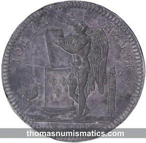 FRANCE-Louis-XVI-Matrice-de-l-039-essai-Ecu-6-livres-Duvivier-INEDIT