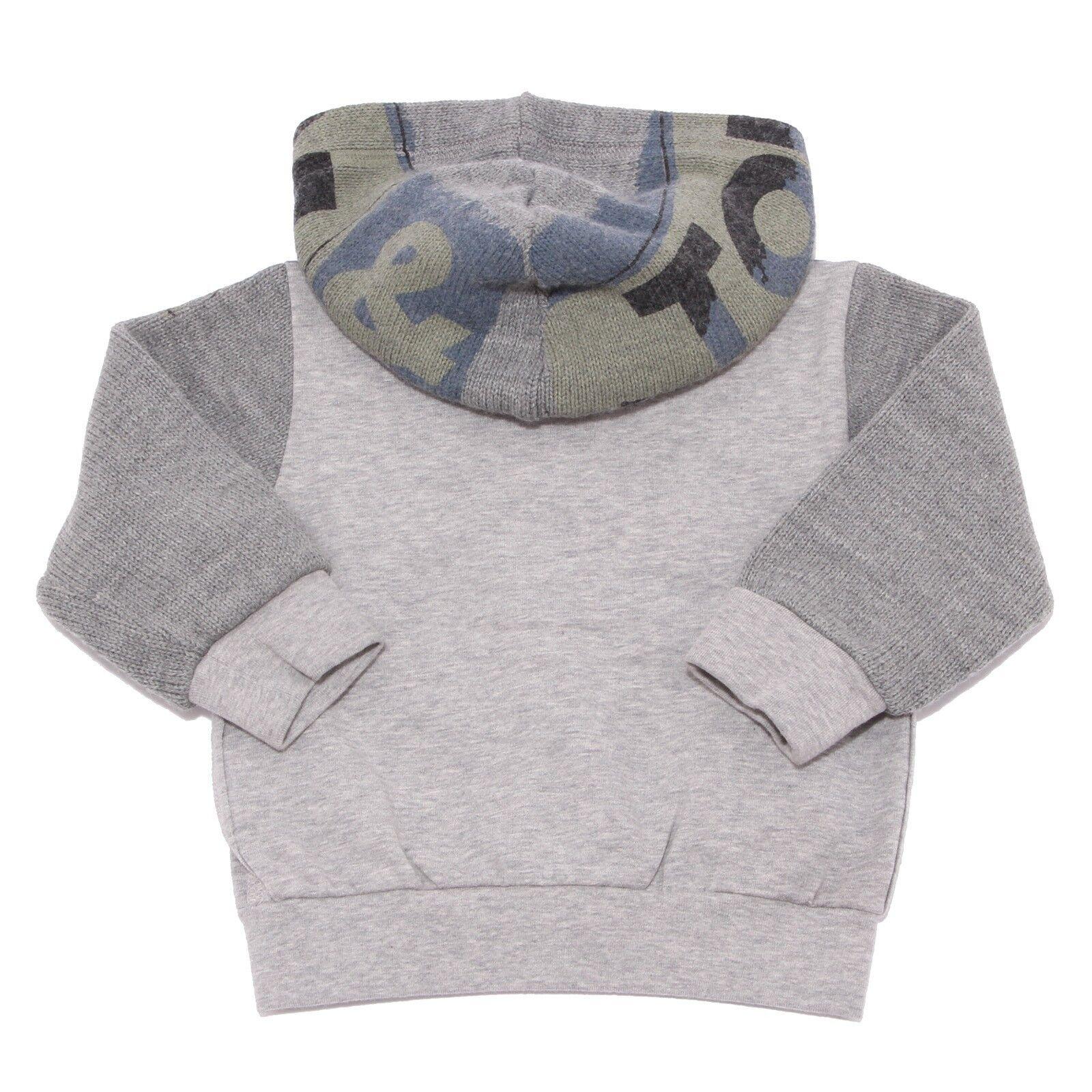 6023R felpa bimbo bimbo bimbo DOLCE & GABBANA grigio/verde sweatshirt kid 4f4e5a