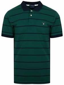 Symbole De La Marque Gant Ivy Vert à Rayures Polo Shirt-afficher Le Titre D'origine DéLicieux Dans Le GoûT