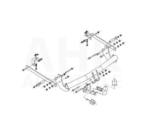 Citroen Jumpy II de 07 Attelage fixe+faisceau 7 broches