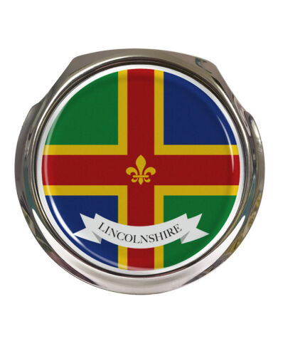 Lincolnshire County Flag FREE FIXINGS Car Grille Badge