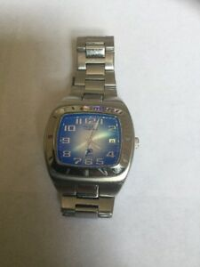 Fossil-Blue-Watch-AM-3662-Eye-Catching-Watch-With-Date