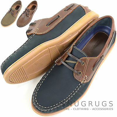 100% QualitäT Mens Leather Casual / Formal / Holiday Slip On Boat / Deck Loafer Lace Up Shoes Eine GroßE Auswahl An Waren