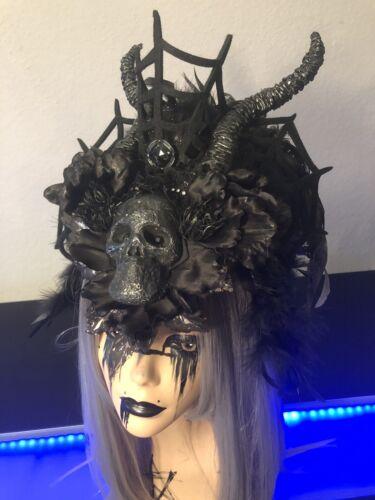 Gothic handmade fantasy headdress, Necromancer, Cr
