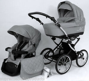 Beautiful Retro Design Classic Grey Ml Baby Pram