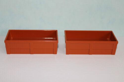 2 Stück LEGO DUPLO 4962 6136 6157 6158 Zoo Trog Napf braun für Tiere NEU LEGO Bau- & Konstruktionsspielzeug