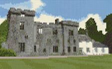 "Armadale Castle / Ruins - Scottish Mini Cross Stitch Kit 8"" x 5"" - 14 Count Aida"