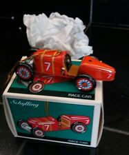 Schylling Tin Race Car Ornament - Red Metal Toy Collector Christmas Ornament