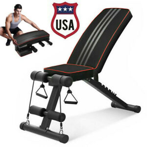 Foldable Weight Bench Adjustable Incline Decline Workout Fitness Training Bench Ebay