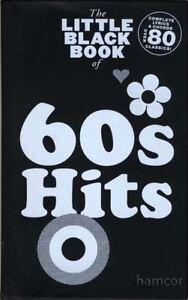 60 S Hits The Little Black Répertoire Guitar Chords & Paroles Music Song Book-afficher Le Titre D'origine êTre Nouveau Dans La Conception