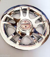 "GOLF CART Chrome Hub Cap fits 8"" Wheel New Set of 4 Caps Covers American racing"