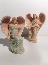 "Lot of 2 Seraphim Classics ""Benevolent Guide"" & ""Wisdom's Child"" Romans Inc."