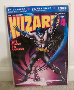 76c32d9b0c3 Wizard Magazine Issue 4 Signed by Bart Sears Batman Cover Wolverine ...