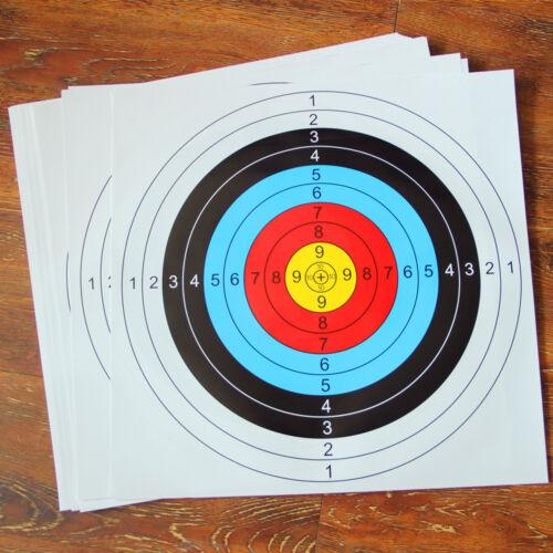 10PCS 40*40cm Archery Target Faces Suitable For Bows/&Crossbows Heavy Gauge #EM3