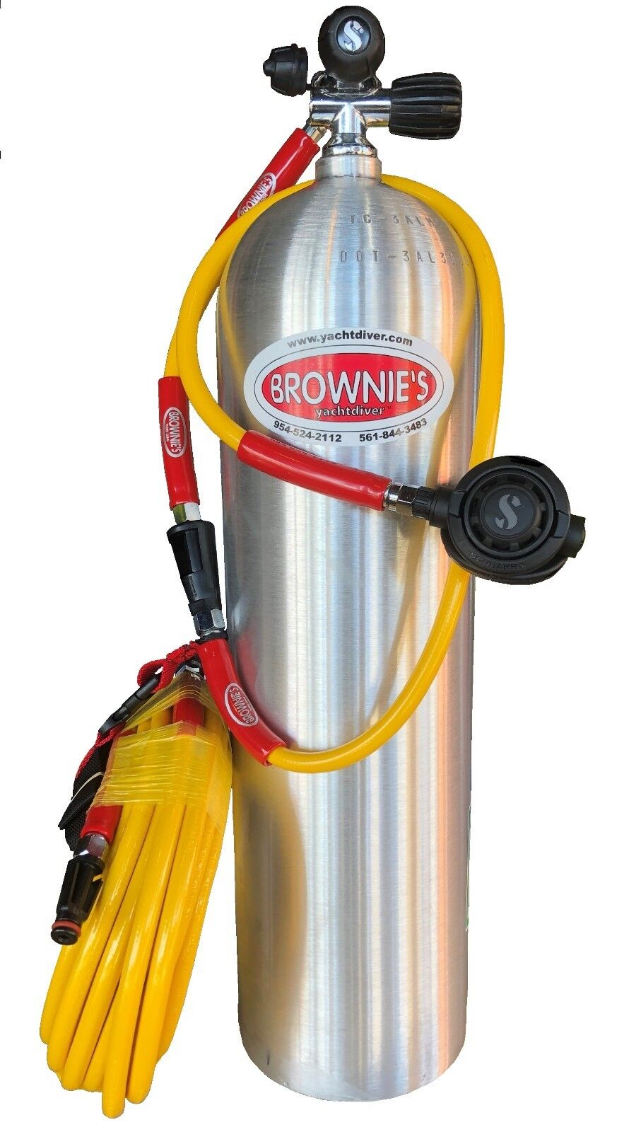 Brownie's Third Lung Kayak diving kit - 60ft hose, tank , and 1st 2nd stage reg.