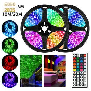 5M-10M-15M-LED-Strip-Light-RGB-5050-SMD-2835-Flexible-Ribbon-RGB-Stripe-tape-kit