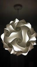 30 elementos moderno rompecabezas IQ Rompecabezas Pantalla Pantalla Luz Retro 25cm Blanco