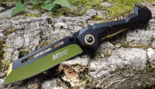 MTech Ballistic CHIMÄRA Messer Taschenmesser Aluminiumgriff LIGHT GOLD MTA1057GD