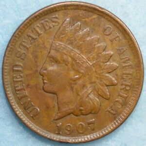 1907-Indian-Head-Cent-Penny-Very-Nice-Old-Coin-Fast-S-amp-H-36297