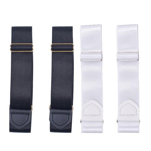 2 Pairs Mens Adjustable Elastic Shirt Garter Belts Sleeve Holder Armband