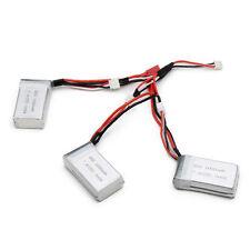 3X 7.4V 1000mAh 25C Lipo Battery + 1 to 3 Charger for MJX X600 WLtoys V912 V915