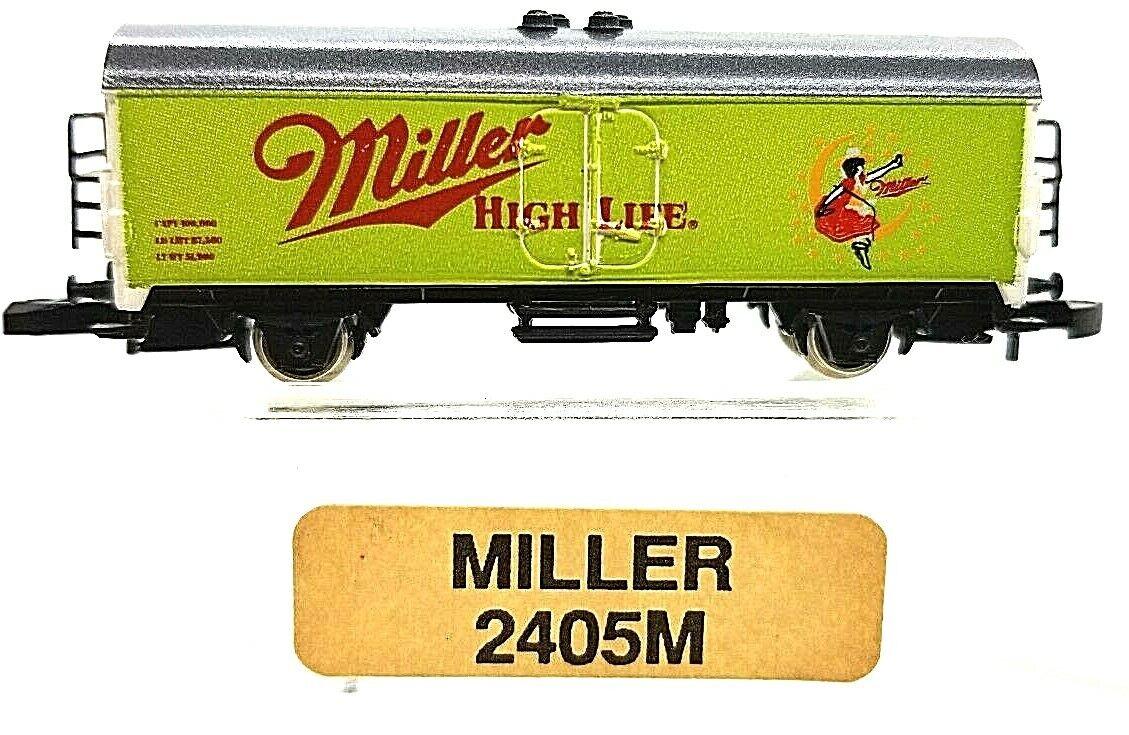 Z Scale Marklin Mini-Club 2405M  Miller Beer Car. DB
