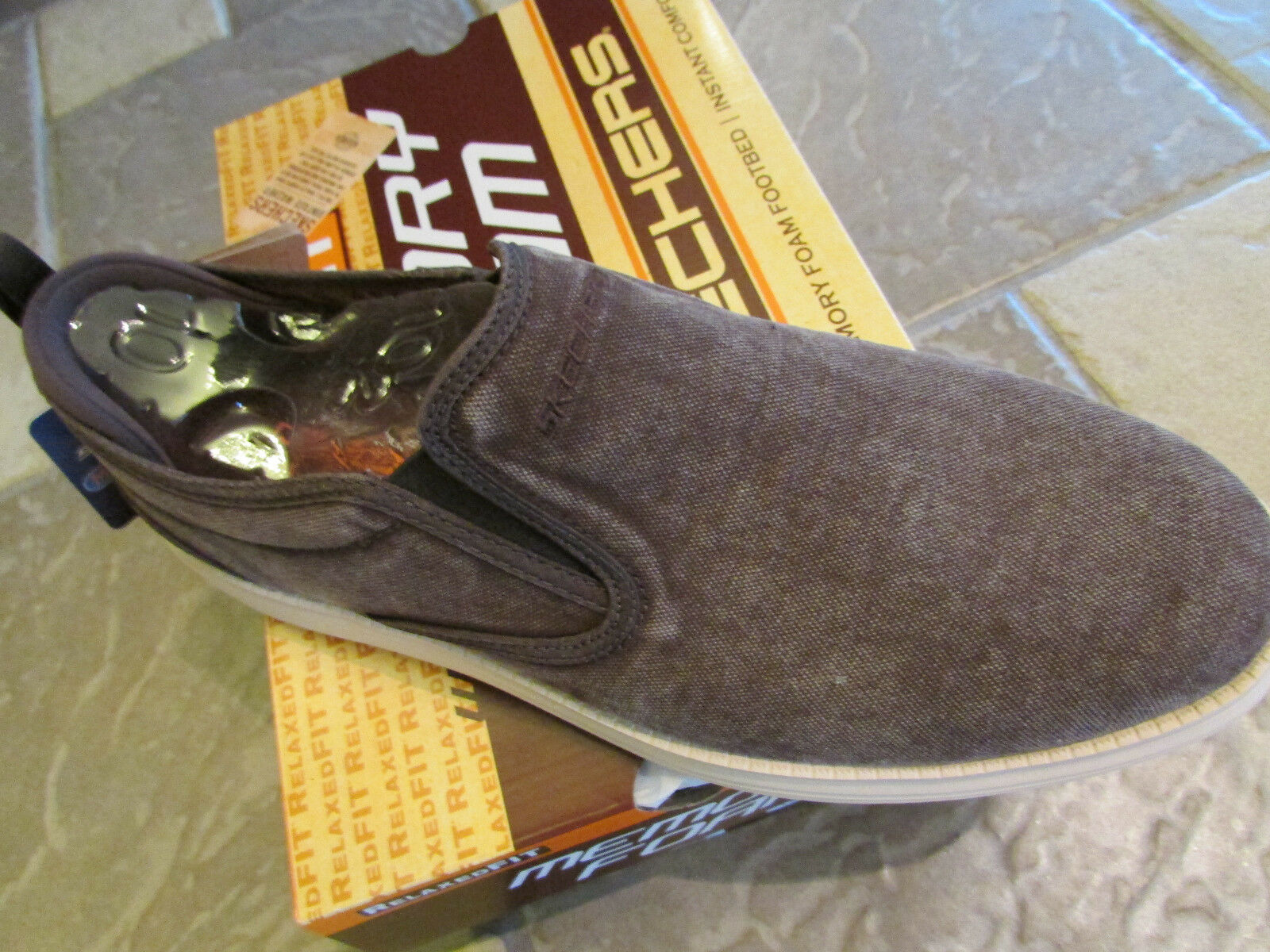NEW SKECHERS STATUS GELDING BROWN LOAFER SHOES MENS 10.5 SLIP ON STYLE FREE SHIP