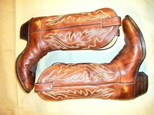 Justin-Brown-1949-Rancher-Cowboy-Riding-Leather-Men-039-s-Boots-8-5-D-Made-in-USA
