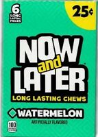 Now And Later Watermelon 24 Count 6 Piece Bars Chewy Fruity Bulk Candy