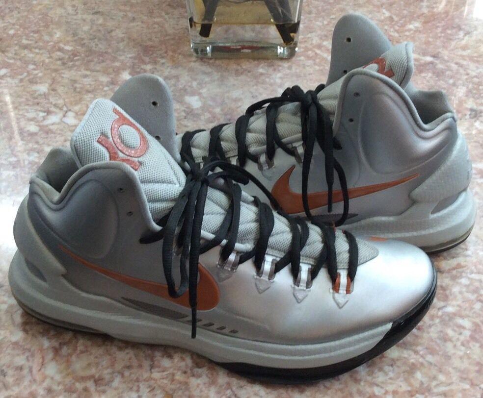 best-selling model of the brand NIKE KD V 5 Texas Longhorns Men's Silver-Desert Sneakers Comfortable