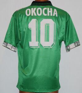 Okocha Nigeria Adidas World Cup 1994 Usa 94 Vintage Naija Shirt Jersey Xl Ebay