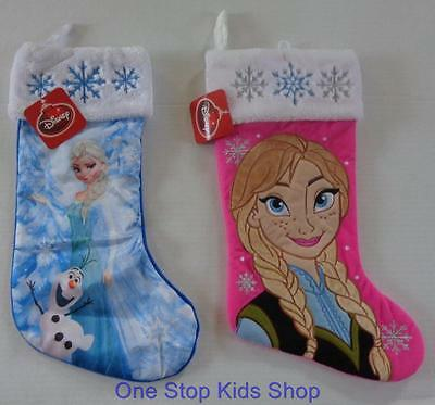 ANNA or ELSA Girls Full Size Christmas HOLIDAY STOCKING Disney FROZEN Olaf