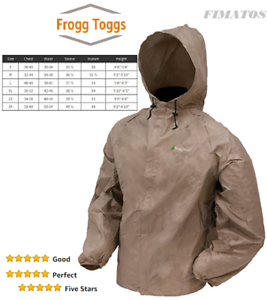 Details about  /Frogg Toggs Men/'s Waterproof,Breathable Ultra Lite Rain Jacket,Small,Khaki