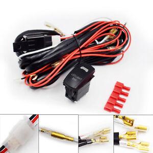 dc 12v wiring harness rocker switch led light bar utv polaris xp 900 1000 superb ebay