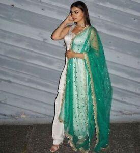 Punjabi Patiala Bollywood Designer Indian Embroidery SALWAR KAMEEZ suit stitched