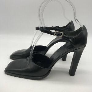 Gucci-Black-Square-Toe-Heels-Size-7-5B