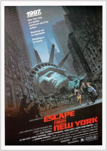 Escape From New York Classic Vintage Large Movie Poster Print A0 A1 A2 A3 A4