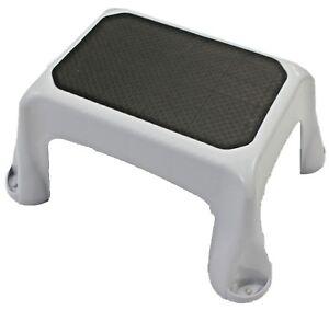 Gray Step Stool 300 Pound Capacity Lightweight Sturdy